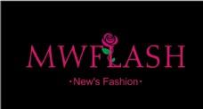 矢量玫瑰花logo