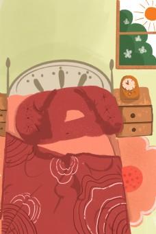 卡通床上用品免抠图