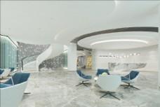 现代办公前台大厅
