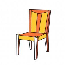 橘黄色的椅子插画