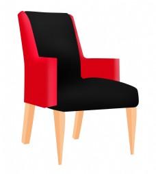 现代家具沙发椅插画
