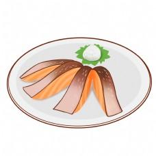 日本的美食刺参插画