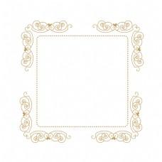 一个欧式花纹边框