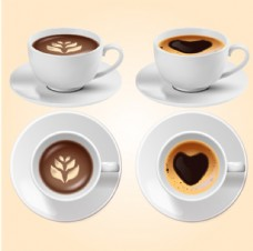 摩卡咖啡美式咖啡双视图