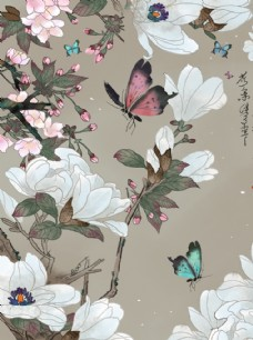 唯美 壁紙 復古 風景畫 水彩