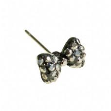 灰色纹理宝石耳钉元素