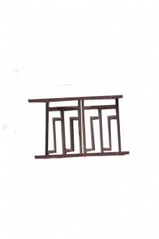 阳台深色纹路围栏