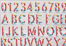 立体数字字母样机