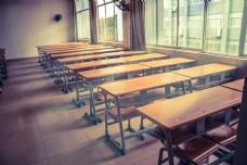 复古风格色调的教室