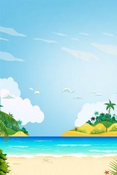 夏季沙滩海滩旅游平面素材