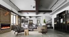 现代简约轻奢客厅效果图3D模型