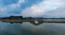 上海松江广富林遗址公园延时摄影