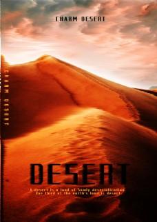 沙漠电影海报风景海报