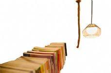 抑或书本麻绳吊灯