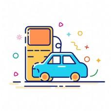 卡通手绘汽车维修图标