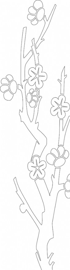 梅花 玻璃 刻绘