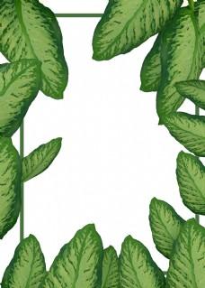 c4d立体植物边框免费下载