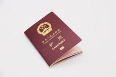 简约商务护照白色背景