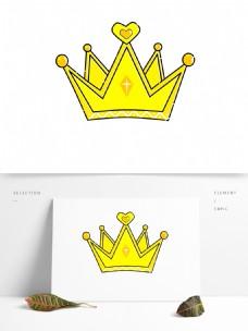 心形花纹皇冠卡通手绘