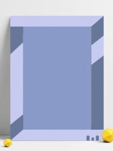创意几何灰蓝凑色框背景