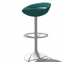 吧台椅模型