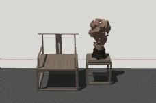 古代太师椅模型