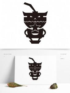 壹字主题餐饮行业奶茶logo