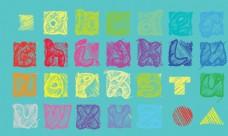 彩色素描字母
