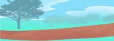 蓝色天空和植物免抠图