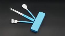 蓝色塑料餐具系列4