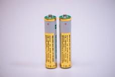 两节七号电池金属材质特写素材