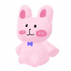 儿童节礼物粉色小兔子