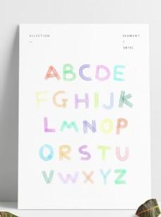 手绘涂鸦字母