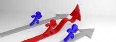商务金融团队数据上涨背景