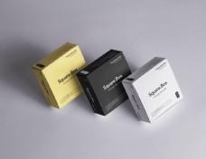 方形纸盒包装盒模板贴图样机