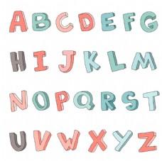 可爱立体字母设计