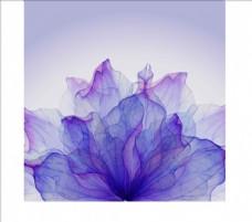 紫色梦幻炫彩花朵