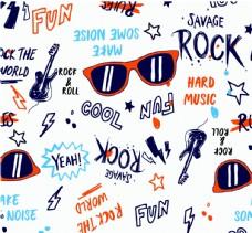 摇滚音乐街头时尚元素涂鸦