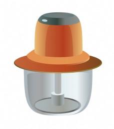 橘色电器榨汁机插画