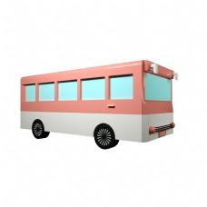 C4D卡通3D巴士汽车