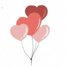卡通心形气球