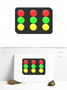 立体红绿灯装饰图案