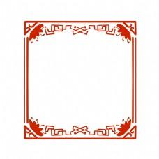 方形古典花纹边框