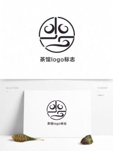 茶馆店面LOGO标志