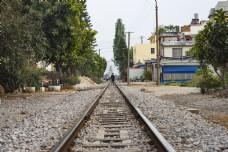 火车轨道摄影图片