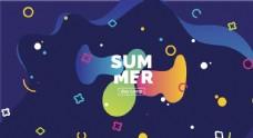 夏季海报模板背景