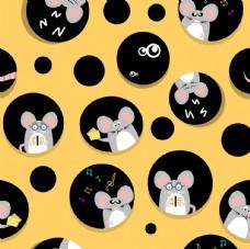 奶酪 老鼠卡通设计