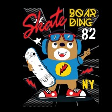 卡通人物滑板