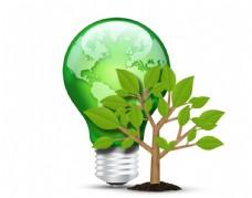 绿色环保 电灯树木
