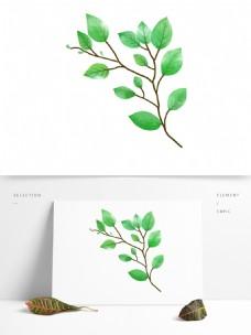 绿色叶子透明装饰素材
